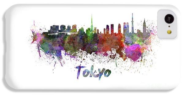 Tokyo Skyline In Watercolor IPhone 5c Case by Pablo Romero