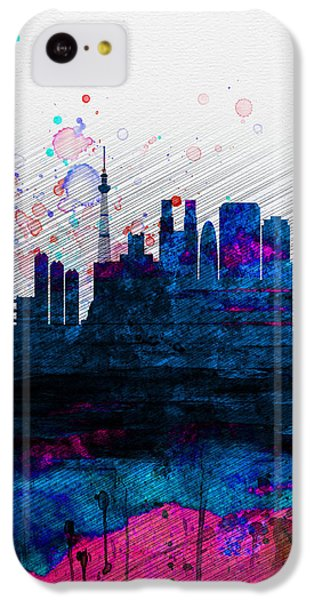 Tokyo Watercolor Skyline 2 IPhone 5c Case by Naxart Studio