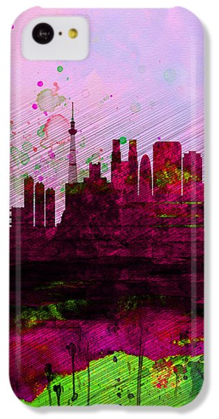 Tokyo Watercolor Skyline IPhone 5c Case by Naxart Studio
