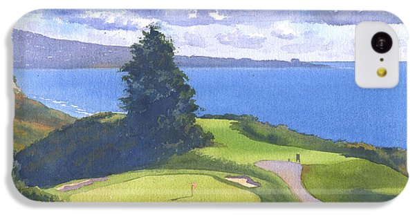 Torrey Pines Golf Course North Course Hole #6 IPhone 5c Case by Mary Helmreich