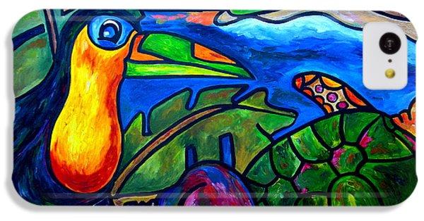 Toucan iPhone 5c Case - Tortuga Eco Tour by Patti Schermerhorn