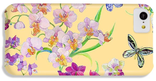 Tossed Orchids IPhone 5c Case by Kimberly McSparran