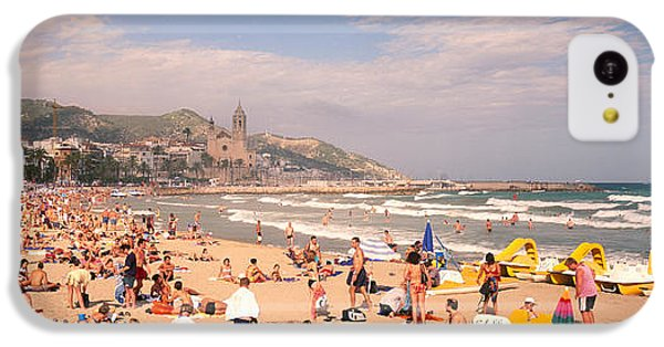 Tourists On The Beach, Sitges, Spain IPhone 5c Case by Panoramic Images
