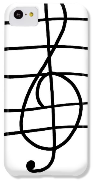 Treble Clef IPhone 5c Case by Jada Johnson
