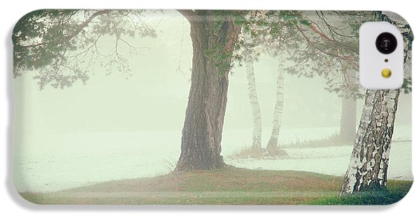 IPhone 5c Case featuring the photograph Trees In Fog by Silvia Ganora