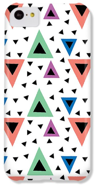 Triangular Dance Repeat Print IPhone 5c Case by Susan Claire
