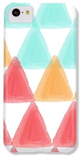 Trifold- Colorful Abstract Pattern Painting IPhone 5c Case by Linda Woods