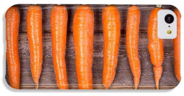 Trimmed Carrots In A Row IPhone 5c Case by Jane Rix