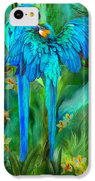 Tropic Spirits - Gold And Blue Macaws IPhone 5c Case