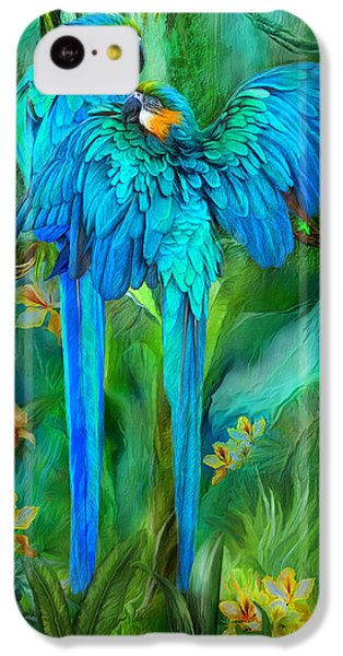 Tropic Spirits - Gold And Blue Macaws IPhone 5c Case by Carol Cavalaris