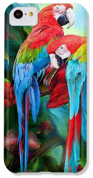 Tropic Spirits - Macaws IPhone 5c Case by Carol Cavalaris