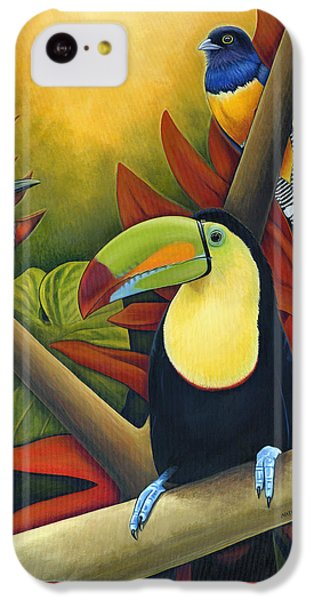 Toucan iPhone 5c Case - Tropical Birds by Nathan Miller