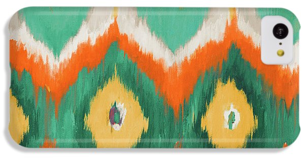 Orange iPhone 5c Case - Tropical Ikat II by Patricia Pinto