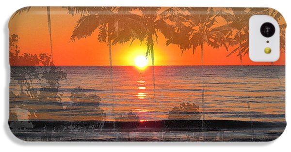 Beach Sunset iPhone 5c Case - Tropical Spirits - Palm Tree Art By Sharon Cummings by Sharon Cummings