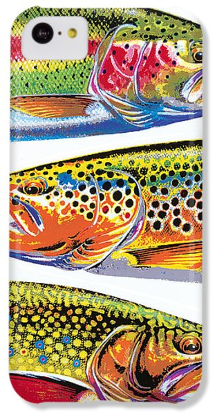 Trout iPhone 5c Case - Trout Abstraction by JQ Licensing