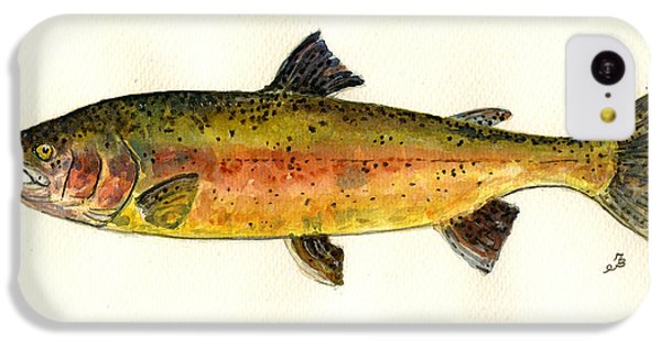 Trout iPhone 5c Case - Trout Fish by Juan  Bosco