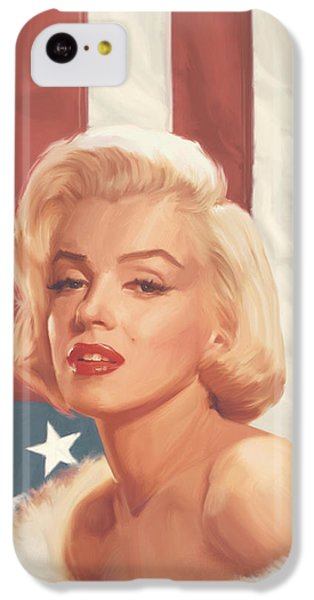 True Blue Marilyn In Flag IPhone 5c Case by Chris Consani