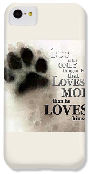 True Love - By Sharon Cummings Words By Billings IPhone 5c Case by Sharon Cummings