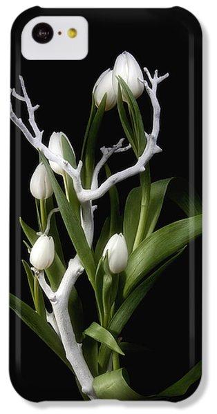 Tulip iPhone 5c Case - Tulips In Tree Branch Still Life by Tom Mc Nemar