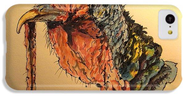 Turkey iPhone 5c Case - Turkey Head Bird by Juan  Bosco