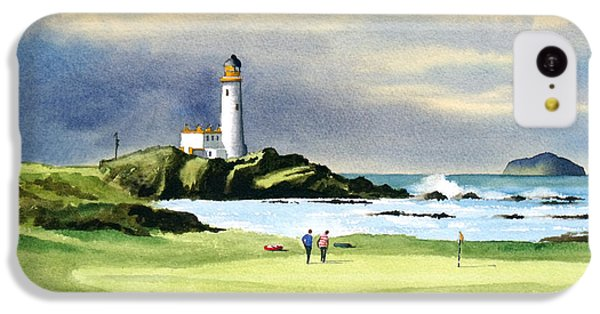 Golf iPhone 5c Case - Turnberry Golf Course Scotland 10th Green by Bill Holkham