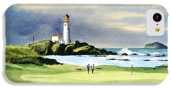 Turnberry Golf Course Scotland 10th Green IPhone 5c Case by Bill Holkham