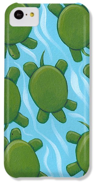 Turtle Nursery Art IPhone 5c Case by Christy Beckwith