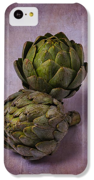 Two Artichokes IPhone 5c Case by Garry Gay