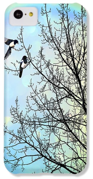 Magpies iPhone 5c Case - Two For Joy by John Edwards
