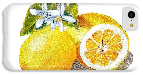 IPhone 5c Case featuring the painting Two Happy Lemons by Irina Sztukowski