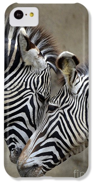 Two Zebras IPhone 5c Case by Mark Newman