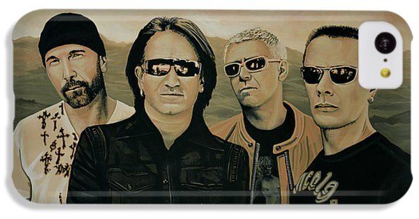U2 Silver And Gold IPhone 5c Case by Paul Meijering