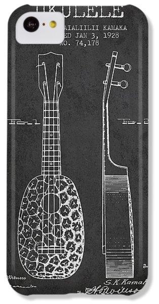 Ukulele Patent Drawing From 1928 - Dark IPhone 5c Case