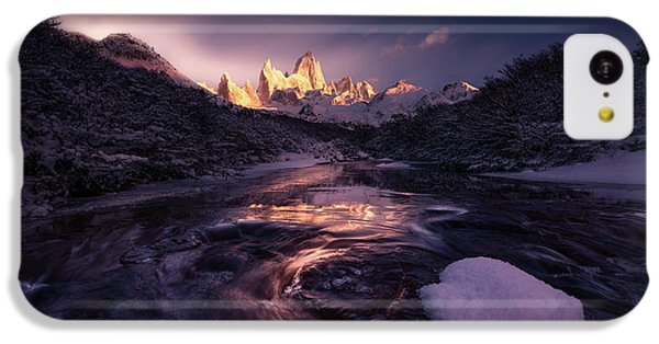 South America iPhone 5c Case - Under The Moon by Simon Roppel