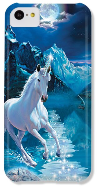 Unicorn IPhone 5c Case by Andrew Farley