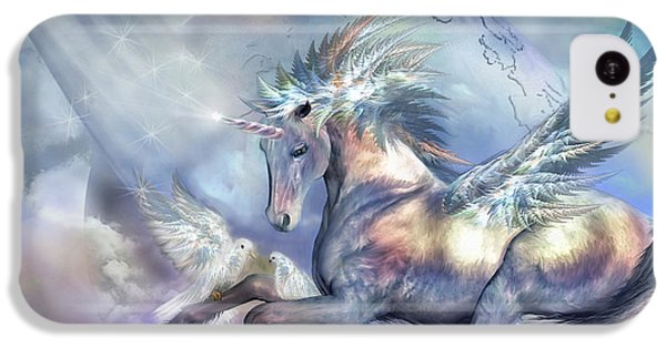 Unicorn Of Peace IPhone 5c Case by Carol Cavalaris