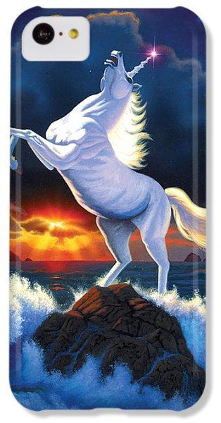 Unicorn Raging Sea IPhone 5c Case