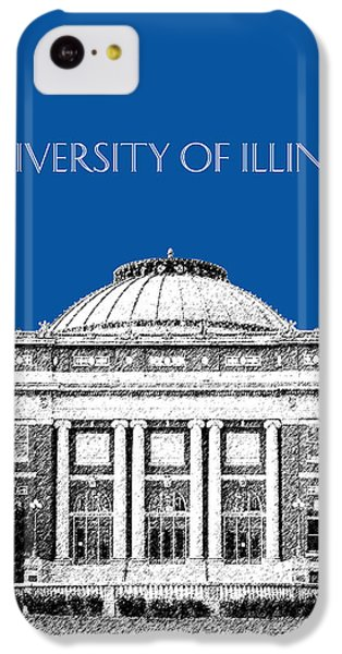 University Of Illinois Foellinger Auditorium - Royal Blue IPhone 5c Case by DB Artist