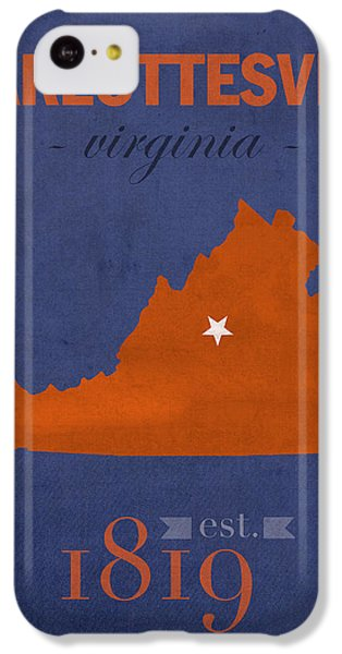 University Of Virginia Cavaliers Charlotteville College Town State Map Poster Series No 119 IPhone 5c Case by Design Turnpike