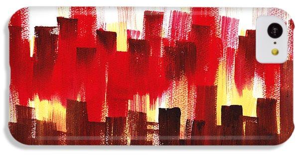 IPhone 5c Case featuring the painting Urban Abstract Evening Lights by Irina Sztukowski