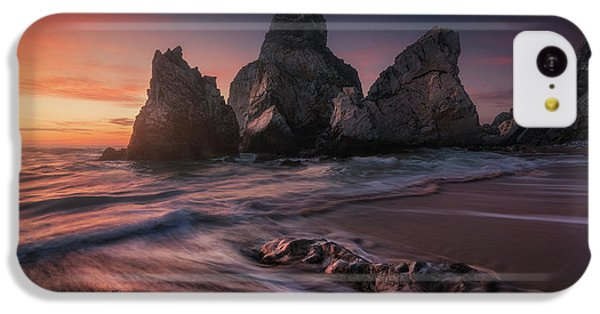 Beach Sunset iPhone 5c Case - Ursa by Carlos F. Turienzo