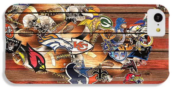 Usa Nfl Map Collage 10 IPhone 5c Case
