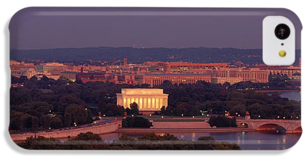 Usa, Washington Dc, Aerial, Night IPhone 5c Case by Panoramic Images