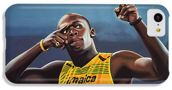 The iPhone 5c Case - Usain Bolt Painting by Paul Meijering