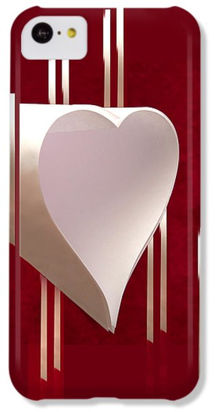 Valentine Paper Heart IPhone 5c Case by Gary Eason