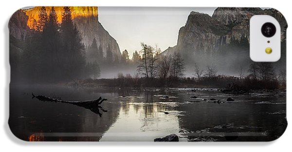 Valley View Yosemite National Park Winterscape Sunset IPhone 5c Case by Scott McGuire