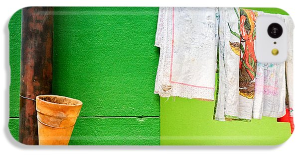 IPhone 5c Case featuring the photograph Vase Towels And Green Wall by Silvia Ganora