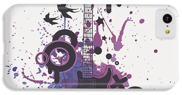 Sound iPhone 5c Case - Vector Illustration Of Electric Guitar by Eireen Z