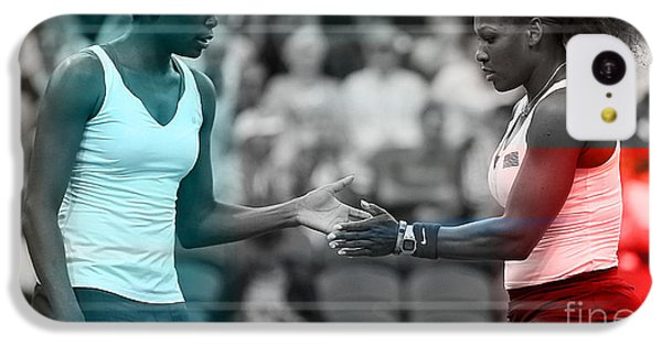 Venus Williams And Serena Williams IPhone 5c Case by Marvin Blaine