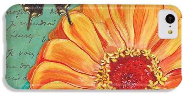 Verdigris Floral 1 IPhone 5c Case by Debbie DeWitt